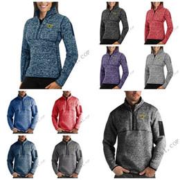Full Zip Sweater Jacket Australia - Dallas Stars Antigua Mens Womens Fortune Half-Zip Sweater Pullover Jackets- Heather Navy Charcoal Purple Grey Royal