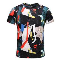 1ec73971 2019 summer new men's and women's T-shirt round neck print short-sleeved T- shirt free shipping 168