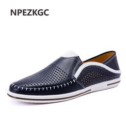 $enCountryForm.capitalKeyWord Australia - NPEZKGC Summer Men Loafers Genuine Leather Men's Handmade Casual Shoes Fashion Brand Men Driving Boat Shoes Comfort Man Footwear