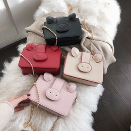 lovely chains Australia - 1Bag Woman 2019 Western Style Student Lovely Pig Package Ins Joker Chain Single Shoulder Satchel