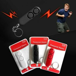 Safety Gadgets Australia - 120db Anti Rape Dual Speakers Loud Alarm Alert Bag Keychain Safety Personal Alarm Bell Security Protection Outdoor Gadgets CCA11786 60pcs