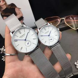 Small Round Clocks Australia - 2019 Luxury Women Watch Brand nomos Men Quartz Casual Watch stainless steel Men Watches Male Clock small dials work Relogio Masculino
