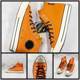 $enCountryForm.capitalKeyWord Australia - New Release Covase Chuck Star X GORE-TEX Canvas Shoes For Men Womans Casual Orange Black Fashion Designer Trainer Sports Street Sneaker