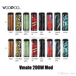 $enCountryForm.capitalKeyWord Australia - 100% Original Voopoo Vmate 200W TC Box Mod Dual 18650 Battery E Cigarette Vape Mods For Authenticl Uforce T1 Atomizer Tank