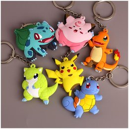 $enCountryForm.capitalKeyWord Australia - Charmander Bulbasaur Squirtle Dragonite Eevee Mewtwo Snorlax PVC Keychain Action Figure For Child Holiday Party Gifts 4-7cm