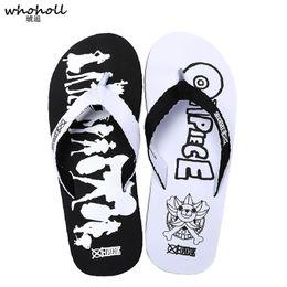 0a70cac3d Wholesale Flip Flops Australia - WHOHOLL Fashion Men Slippers One-piece  Cartoon Print Flip-