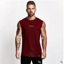 58fd0fe4f28f New Mens Sleeveless Tank Tops Summer Print VQ Cotton Male Tank Tops gyms Clothing  Bodybuilding Undershirt Fitness tank top