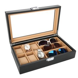 $enCountryForm.capitalKeyWord Australia - 6 Slots Women Watches watch wrist Case Box 3 Slots Sunglasses Organizer Storage Box PU Leather Watch Boxes And Packaging