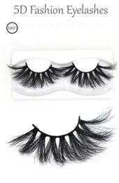 Hair Fur Australia - Super long 25mm fashion mink lashes mink fur hair 5D false eyelashes soft & vivid curly eyelashes extensions DHL Free