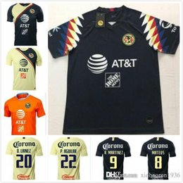 ea6f95791 Top 2019 LIGA MX Club America soccer Jerseys home away Orange 19 20  O.PERALTA C.DOMINGUEZ MATHEUS mexico Soccer Jersey football shirts