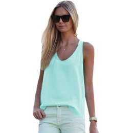 $enCountryForm.capitalKeyWord Australia - Nice Summer Casual Candy Colors Vest Sexy Women V-neck Sleeveless Tank Tops Women Girls Summer Loose T-shirt Tops Plus Size