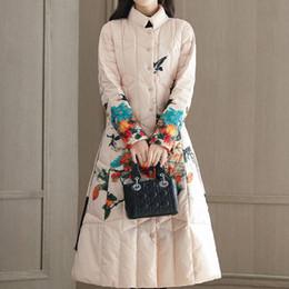 Women S Snow Parka Australia - Snow Wear 2019 Print Vintage Female Casual Plus Size Chinese National Style Parka Jacket Woman Cotton Winter Coat Women QH138