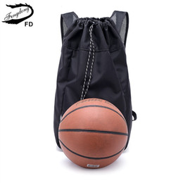 $enCountryForm.capitalKeyWord NZ - FengDong male black waterproof drawstring backpack bag pack boys school backpack for ball multifunctional shoe bag dropshipping
