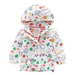 Baby Girls Spring Jackets Australia - Baby Girl Spring Jackets Windbreaker 2019 Fashion Cartoon Clothes Children Girls Hooded Coat Kids Zipper Outerwear 2-10 Years