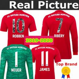 8245af1197e 19 20 Bayern Munich Jersey Home HUMMELS RIBERY ROBBEN JAMES Goalkeeper 2019  2020 Soccer jersey TOLISSO NEUER MULLER HUMMELS Footbal