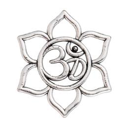 Yoga Charms Australia - lemegeton Fishhook Wholesale 20pcs Spiritual Flower Lotus Hindu Om Yoga Charm Pendant for DIY Jewelry Making