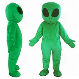 alien suit UK - 2019 Factory direct sale green UFO aliens mascot costume for adults E.T. alien mascot suit for sell