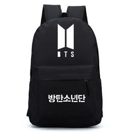 Boy star logo online shopping - NEW LOGO Bangtan Boys BTS oxford backpack korean kpop stars school bag book laptop satchel rucksack V Rap Monster many colors