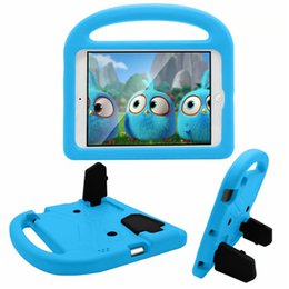 Wholesale For iPad EVA birds Shockproof Case for iPad2 ipad3 ipad4 Funda Coque Children Kids Cute wings Stand Protective Cover