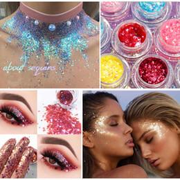 $enCountryForm.capitalKeyWord Australia - 2019 New 34 Colors Glitter Sequins Eye Shadow Star Makeup Bright Coloful Facial Nails Body Shine Flash Shine High Quality