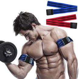 Wholesale 1 Pair Blood Flow Restriction Bands for Fitness Occlusion Training Tourniquet Arm Leg Wraps Bodybuilding Weight Gym Equipment