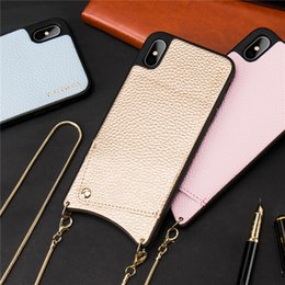 $enCountryForm.capitalKeyWord NZ - Credit Card Leather Phone Case Wallet Strap Crossbody Long Chain For Iphone Xr Xsmax 6s 8 7 Plus Fashion Luxury Back Cover Coque T190701