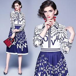 Femmes Robe imprimée à manches longues 2020 Printemps Automne Midi Fashion Lady élégante Robes Boutique Girl Dress en Solde