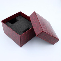 $enCountryForm.capitalKeyWord Australia - Wholesale 10PC Luxury Imitation Leather Felt Paper Box For Watch Package Casket Jewel Carrying Cases Watch Gift BoxWholesale 10PC Luxury