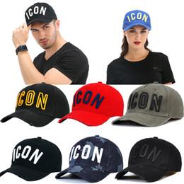 Red visoR hat online shopping - Icon Dsq Cap Hat for Men Women Embroidery Pattern Baseball Cap Hip Hop Chapeau Homme Visor Direct Czapka Z Daszkiem