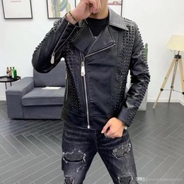 thinnest warmest clothing Canada - 2019 Brand Leather Clothing Mens Jacket Coat Fall Winter Biker Bomber male Jacket thin men's Jackets Men PU Warm coats