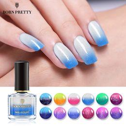 Nail polishes chaNge color online shopping - BORN PRETTY Thermal Nail Polish ml Temperature Color Changing Varnish Lacquer Shimmer Colorful Nail Art Polish Liquid