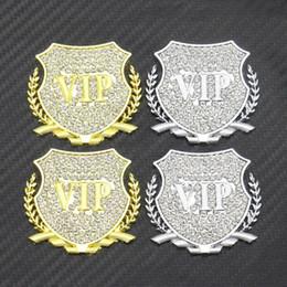Discount sticker vip cars - GMOTOD 2pcs VIP car side label metal car label 3D innovative decoration tail label scratch-mark sticker