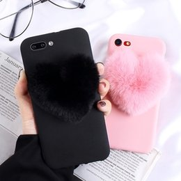 $enCountryForm.capitalKeyWord Australia - new hot sellfurry Love Hearts Cute hair Phone Case for Huawei P Smart 2019 P30 Pro P20 Lite P9 Plus P8 Lite 2019 P10 Selfie mini Phone Cover