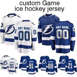 $enCountryForm.capitalKeyWord Australia - Customized Jersey Tampa Bay Lightning jerseys 91 Steven Stamkos86 Nikita Kucherov77 Victor Hedman ice hockey jersey shirt top quality