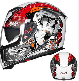 Xxl Motorcycle Half Helmets Australia - NEW Genuine GXT motorcycle full face helmets winter warm double visor helmet Casco Motorbike capacete helmets