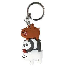 Bare Chain Australia - Cute We Bare Bears Keychain Cartoon Anime Pendants Acrylic Key Chains For Women Kids Fashion Animal Series Trinkets For Car Key