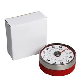 magnetic timers Australia - Mini Kitchen Timer Mechanical Stainless Steel Cooking Timer Count Down Countdown Magnetic Baking Tools DHL FEDEX Free Ship