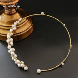 $enCountryForm.capitalKeyWord NZ - Glseevo Natural Fresh Water Baroque Pearl Choker Necklace Gifts For Women Shell Flower Necklaces Custom Luxury Jewelry Gn0061 J 190511