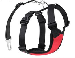 Pet Straps Australia - Pet chest strap car safety belt for dog walking outside small to big pet collar multi-colored equipment is optional