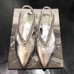 $enCountryForm.capitalKeyWord Australia - Silver flats shoes for women summer crystal diamond Instep strap Pointed Toe Slingbacks luxury crystal Wedding Party Shoes