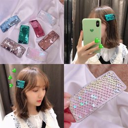 laser for hair 2019 - Summer Laser Bright Leather Children Hair Clip Colored BB Clip Barrette Accessories For Girls Kids Bobby Pins Hairgrip H