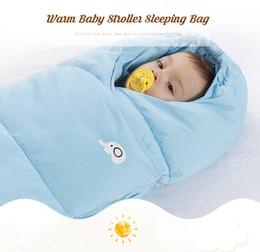 Wrap Sleeping Bag Australia - Baby stroller sleeping bag Winter Warm Sleepsacks Robe Swaddle Quilt Blanket Wrap Sleep Sack wheelchair envelopes newborns footmuff