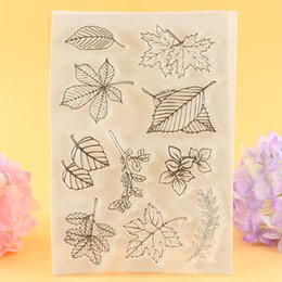 $enCountryForm.capitalKeyWord Australia - crapbooking Stamping Stamps YLCS004 leaves silicone clear stamps for scrapbooking seals DIY album cards decoration transparent stamp rubb...