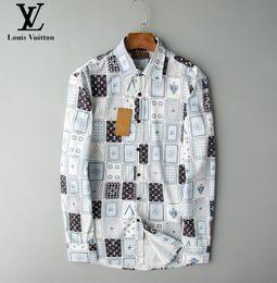 Wholesale solid colour shirts for sale – dress AKM summer Of Men D Floral tiger snake Print Colour Mixture Luxury Casual Harajuku Shirts shortsleeves Men s Medusa Shirts S XXXL