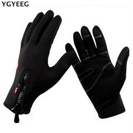 $enCountryForm.capitalKeyWord Australia - YGYEEG Unisex Bike Gloves Winter Thermal Windproof Warm Full Finger Cycling Glove Anti-slip Bike Bicycle Gloves For Man Woman