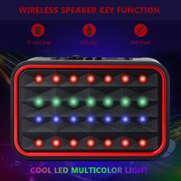 phone dock radio UK - TOPROAD Bluetooth Speaker Portable Wireless HIFI Stereo Bass Loudspeakers Support TF FM Radio Mic AUX Music Column