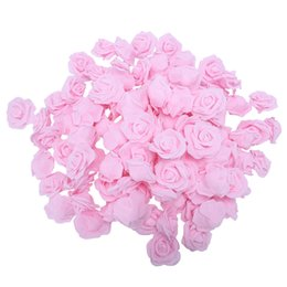 foam rose heads white NZ - High Quality 100pcs   bag 6cm Foam Rose Heads Artificial Flower Heads Wedding Decoration