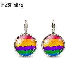 $enCountryForm.capitalKeyWord Australia - 2019 New Fashion High Quality Color Stripes Series Jewelry Colorful Earring Glass Cabochon Silver Hook Earrings Best Gifts