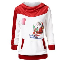 4a070c5b76e vetement femme 2019 Women Hoodie Velvet Christmas Print Bodycon Blouse  Ladies Christmas Party Tops female shirts chemise femme