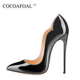 Sexy Red Ivory Wedding Shoes NZ - COCOAFOAL Women's High Heels Wedding Shoes Heel Woman Purps Sexy Zapatos Mujer Tacon Black Red Women's High Heels Shoes Party